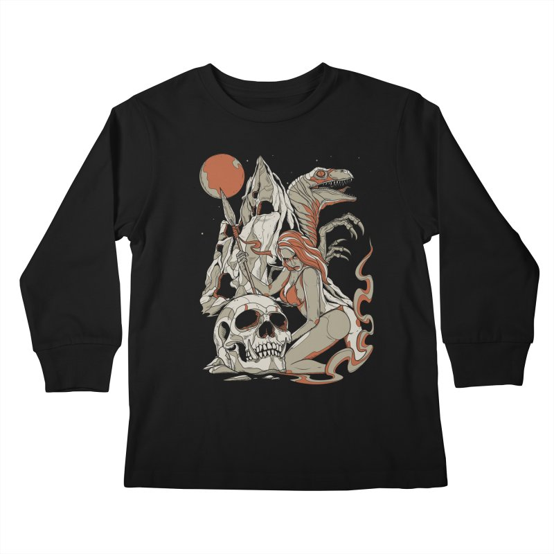 Lord of the Jungle Kids Longsleeve T-Shirt by Phil Ryan's Artist Shop