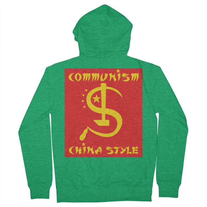 Communism China Style Men's Zip-Up Hoody by philscarr's Artist Shop