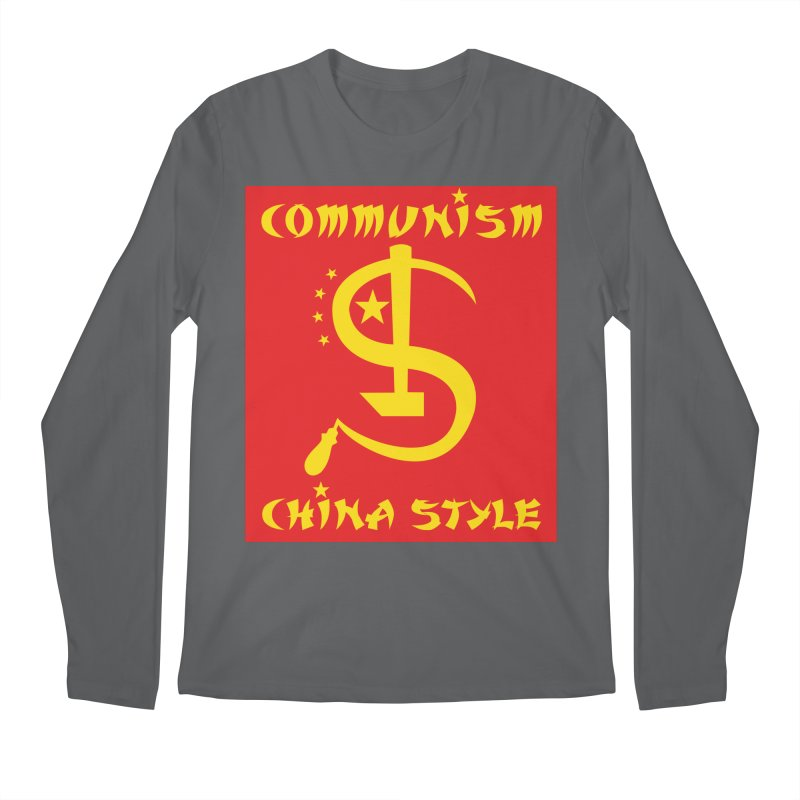 Communism China Style Men's Longsleeve T-Shirt by philscarr's Artist Shop