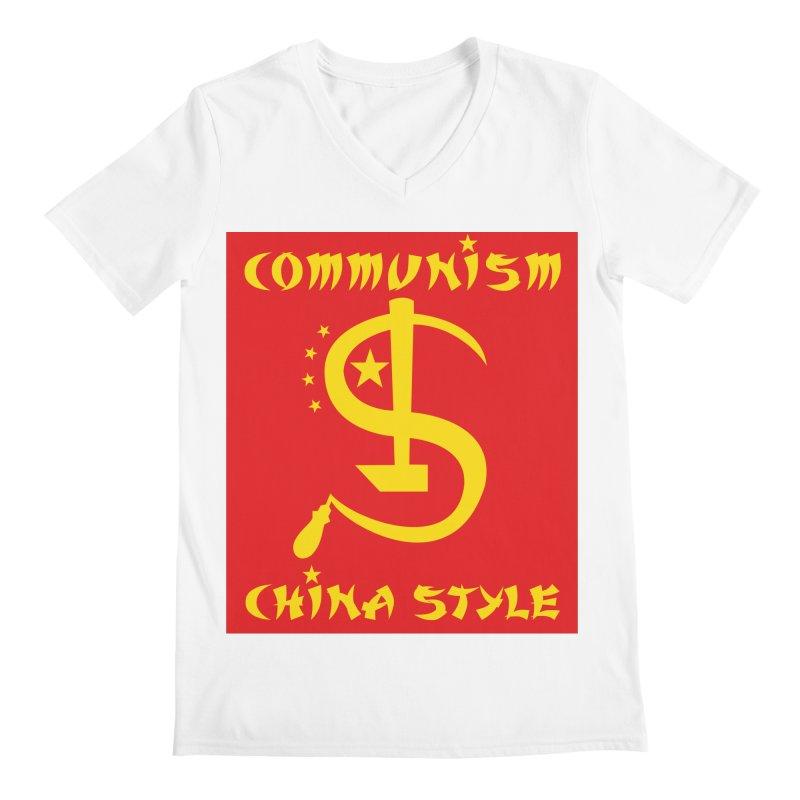 Communism China Style Men's V-Neck by philscarr's Artist Shop