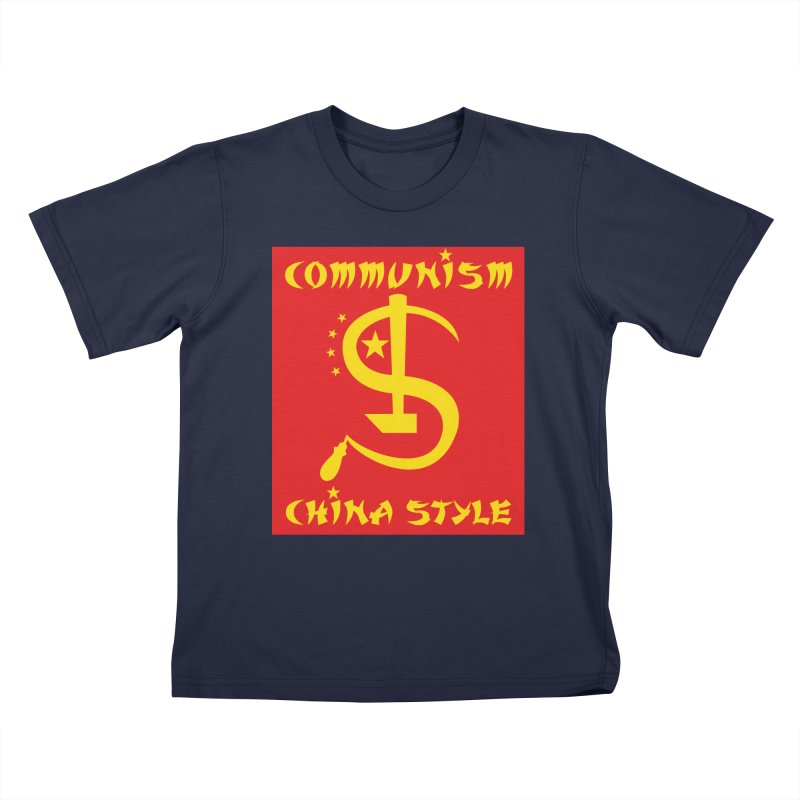 Communism China Style Kids T-Shirt by philscarr's Artist Shop