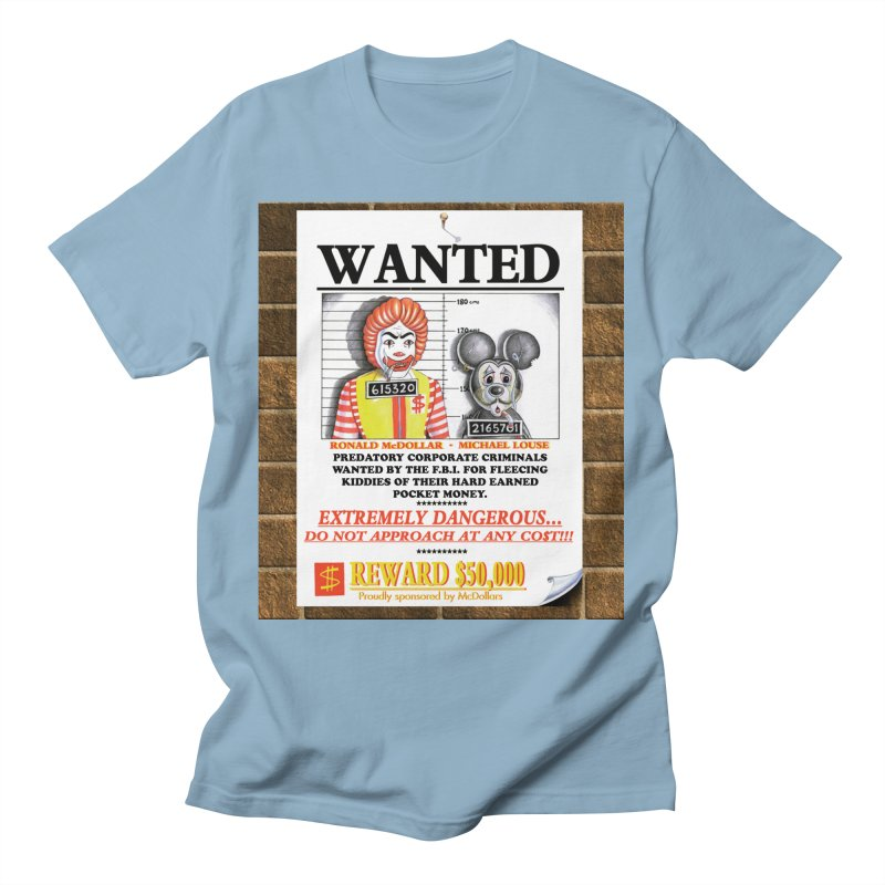 WANTED Men's T-Shirt by philscarr's Artist Shop