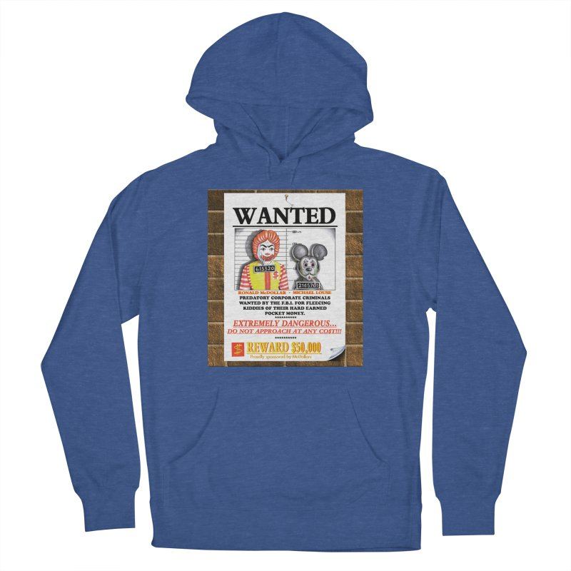 WANTED Men's French Terry Pullover Hoody by philscarr's Artist Shop