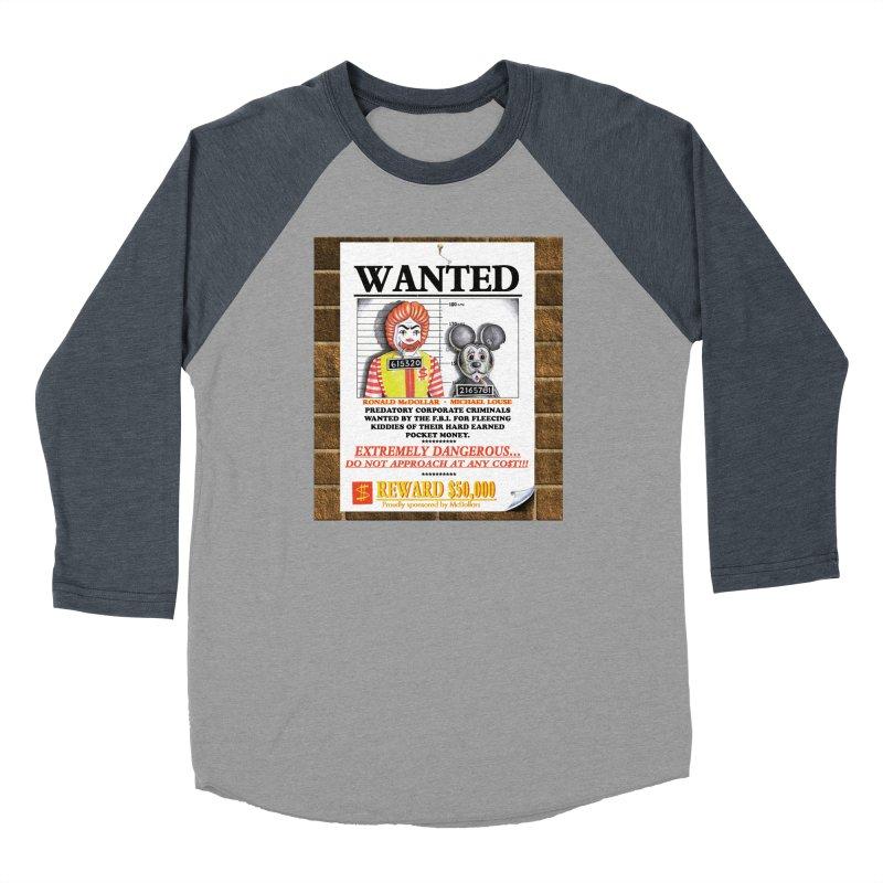 WANTED Women's Baseball Triblend Longsleeve T-Shirt by philscarr's Artist Shop