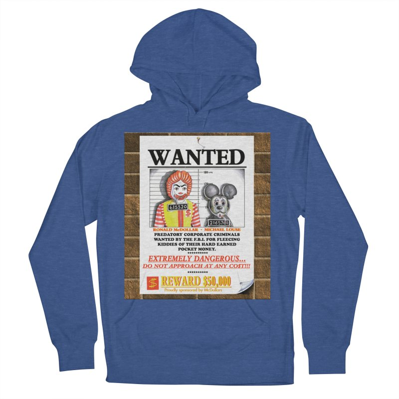 WANTED Women's French Terry Pullover Hoody by philscarr's Artist Shop