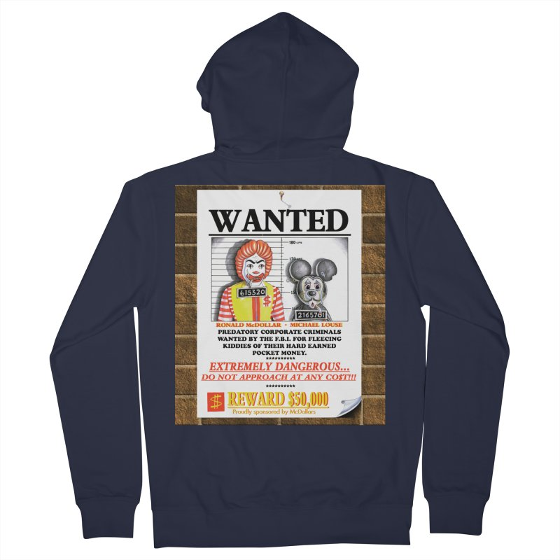 WANTED Women's French Terry Zip-Up Hoody by philscarr's Artist Shop