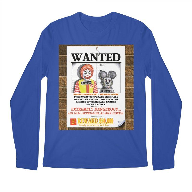 WANTED Men's Regular Longsleeve T-Shirt by philscarr's Artist Shop