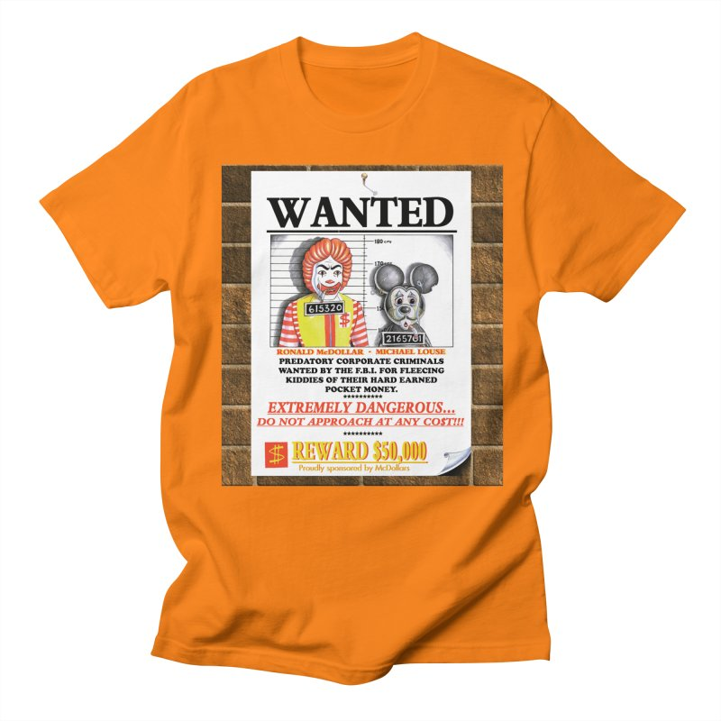 WANTED Men's Regular T-Shirt by philscarr's Artist Shop