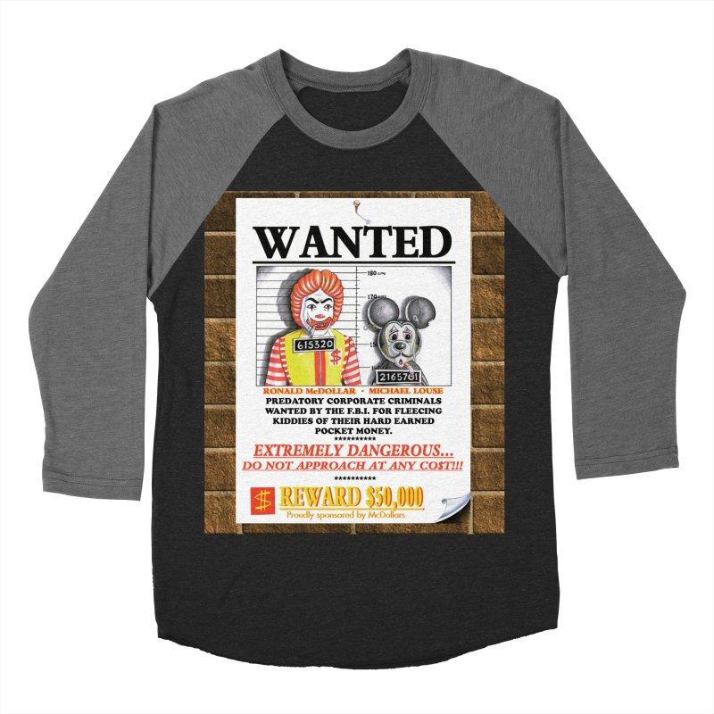 WANTED Men's Baseball Triblend Longsleeve T-Shirt by philscarr's Artist Shop