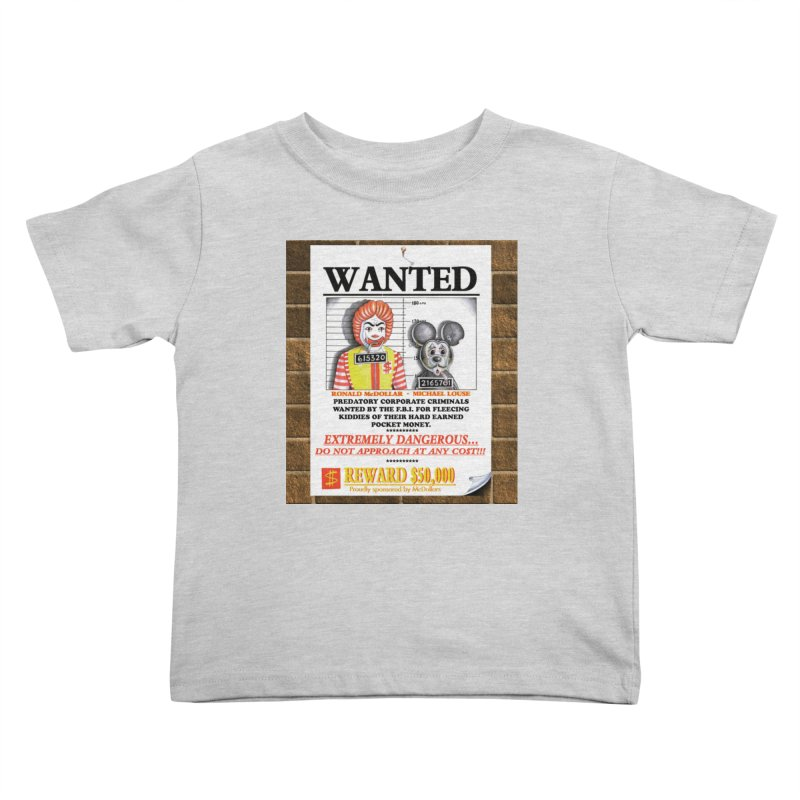 WANTED Kids Toddler T-Shirt by philscarr's Artist Shop