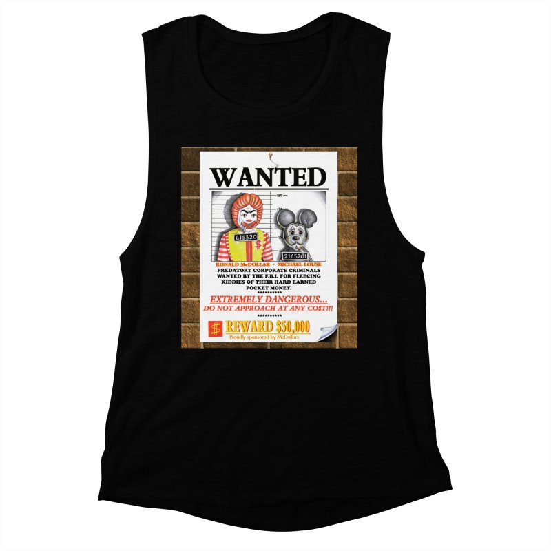 WANTED Women's Muscle Tank by philscarr's Artist Shop