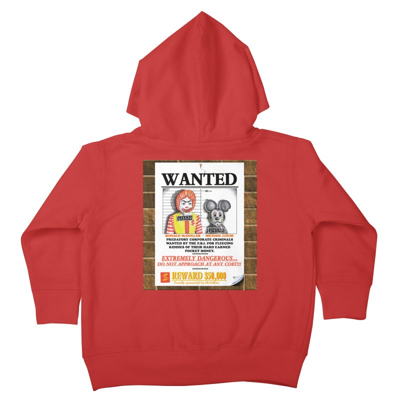 WANTED Kids Toddler Zip-Up Hoody by philscarr's Artist Shop