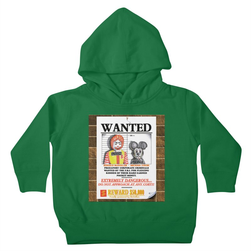 WANTED Kids Toddler Pullover Hoody by philscarr's Artist Shop