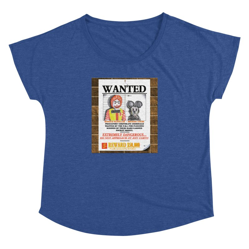 WANTED Women's Dolman Scoop Neck by philscarr's Artist Shop