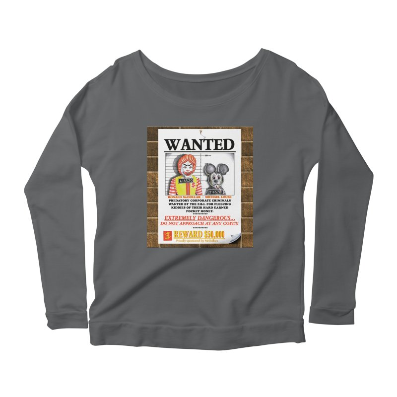 WANTED Women's Scoop Neck Longsleeve T-Shirt by philscarr's Artist Shop