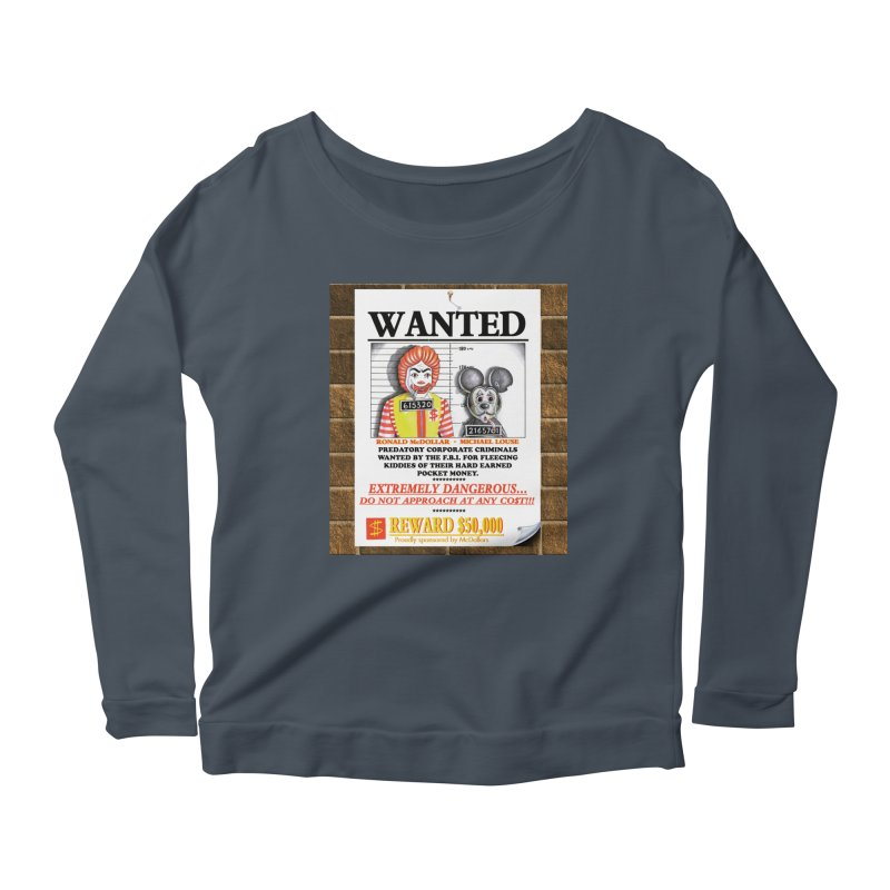 WANTED Women's Scoop Neck Longsleeve T-Shirt by philscarr's Artist Shop