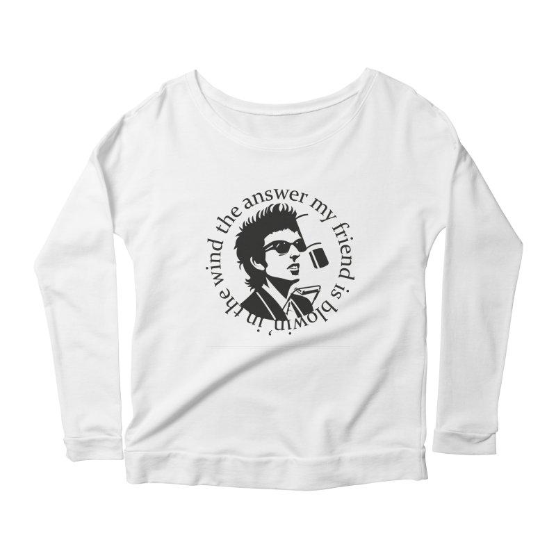 Blowin in the Wind. Women's Scoop Neck Longsleeve T-Shirt by philscarr's Artist Shop