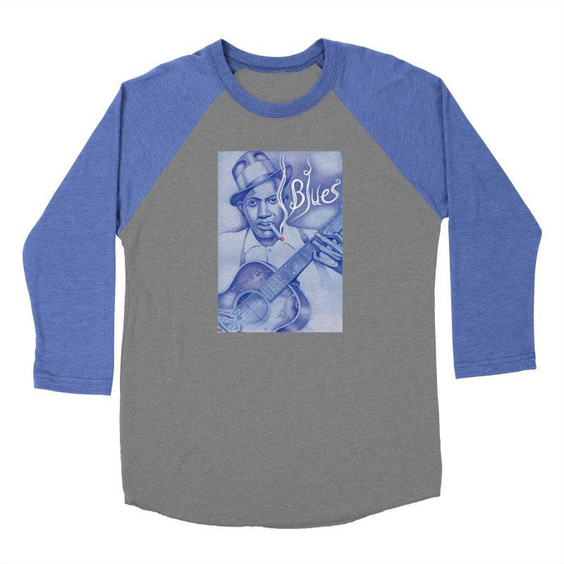 Robert Johnson. Men's Baseball Triblend Longsleeve T-Shirt by philscarr's Artist Shop