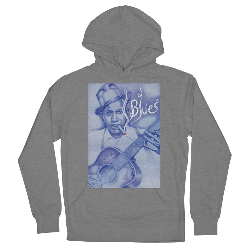 Robert Johnson. Men's French Terry Pullover Hoody by philscarr's Artist Shop