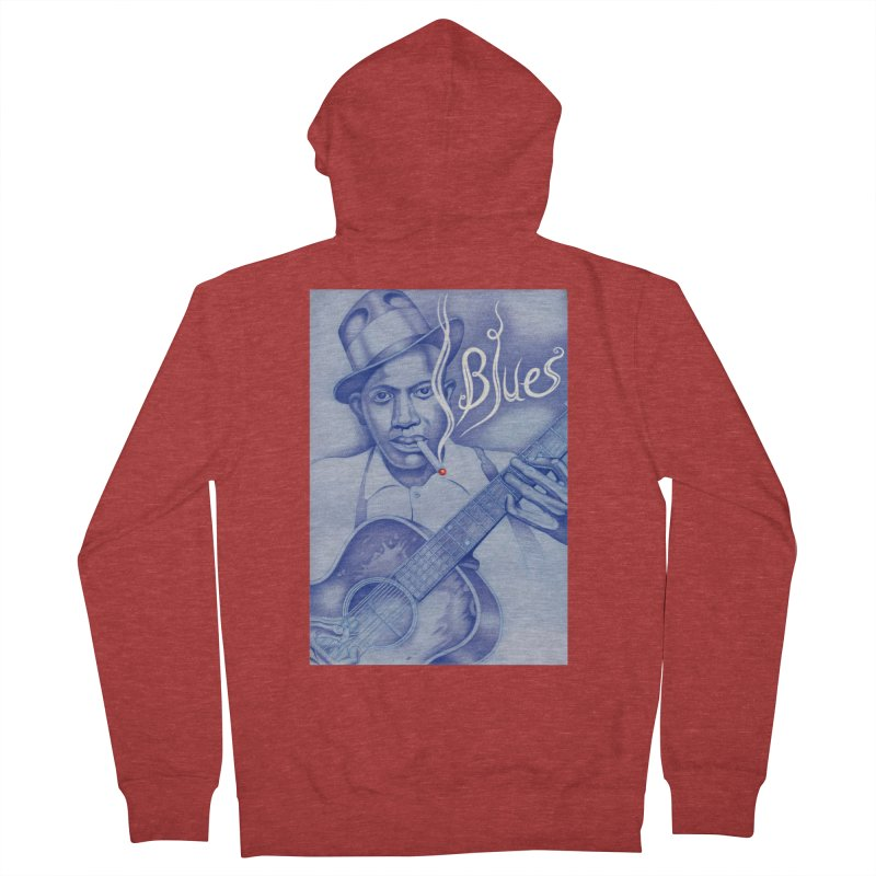 Robert Johnson. Women's French Terry Zip-Up Hoody by philscarr's Artist Shop
