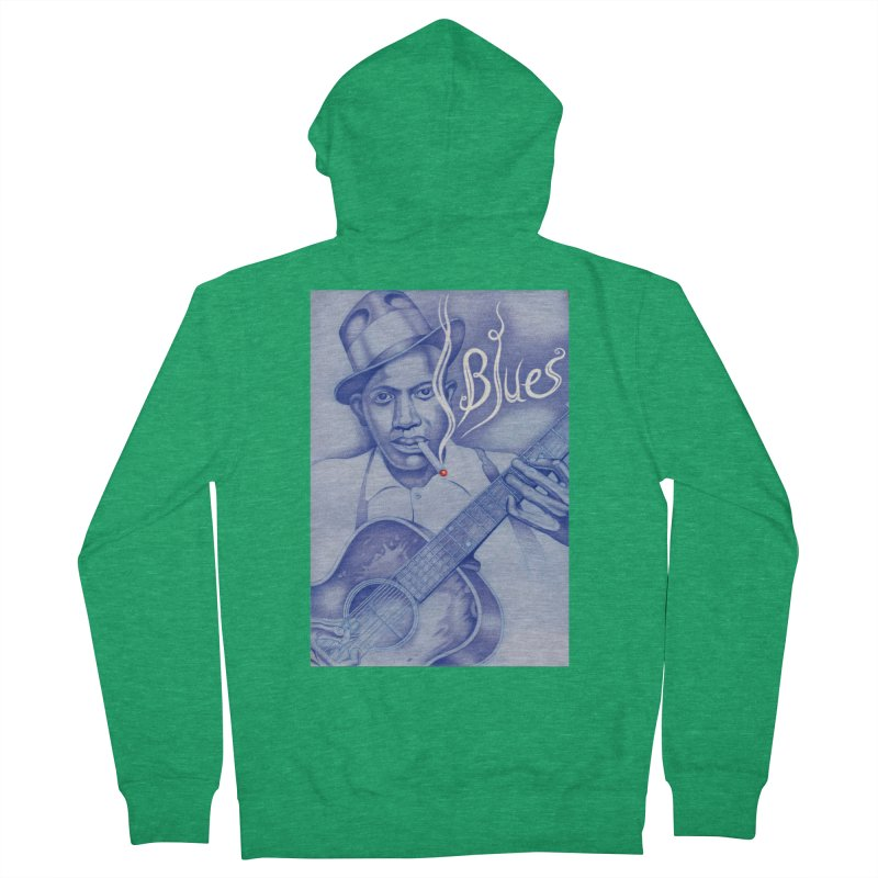 Robert Johnson. Men's French Terry Zip-Up Hoody by philscarr's Artist Shop