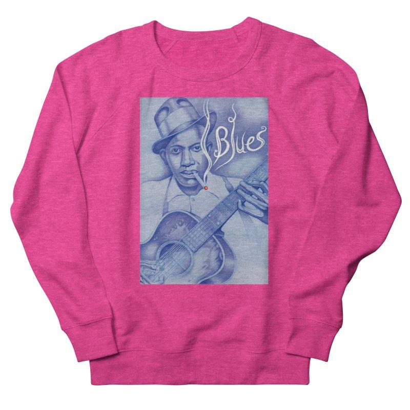 Robert Johnson. Women's French Terry Sweatshirt by philscarr's Artist Shop
