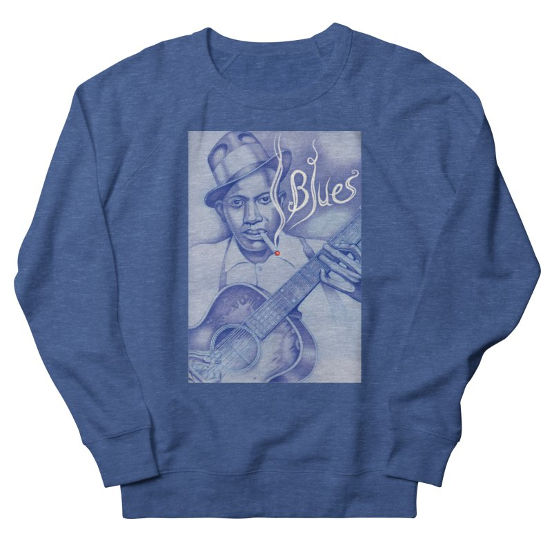 Robert Johnson. Men's French Terry Sweatshirt by philscarr's Artist Shop