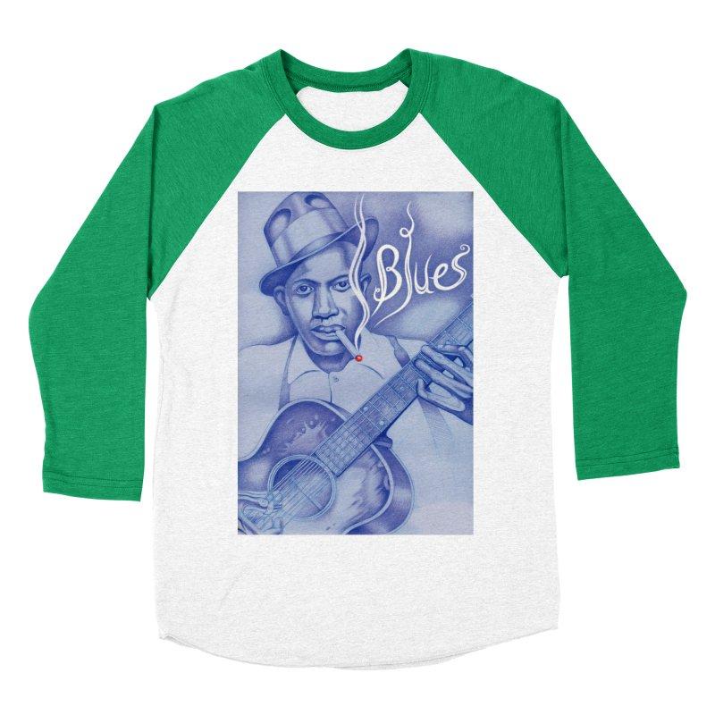 Robert Johnson. Women's Baseball Triblend Longsleeve T-Shirt by philscarr's Artist Shop