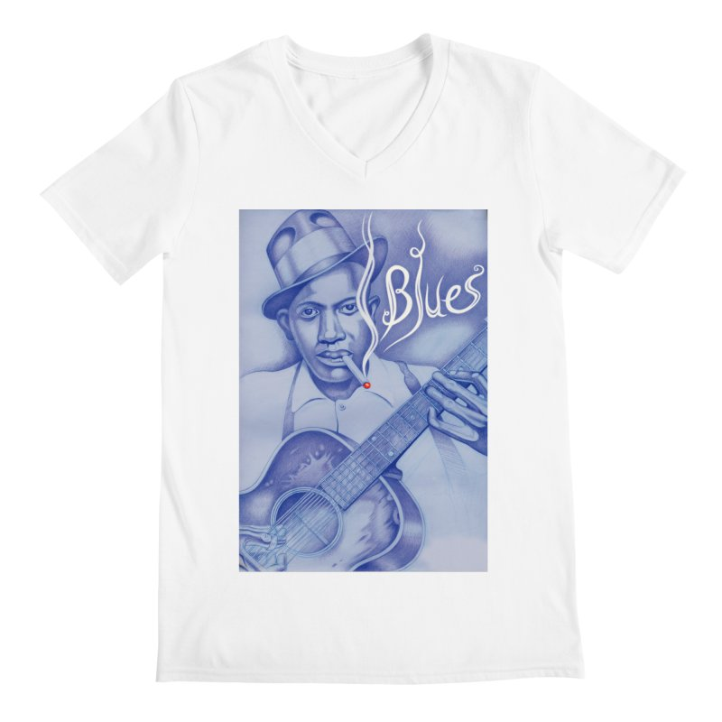 Robert Johnson. Men's Regular V-Neck by philscarr's Artist Shop
