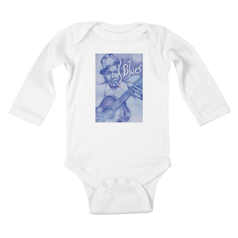 Robert Johnson. Kids Baby Longsleeve Bodysuit by philscarr's Artist Shop