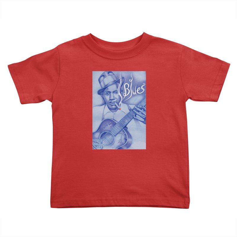 Robert Johnson. Kids Toddler T-Shirt by philscarr's Artist Shop