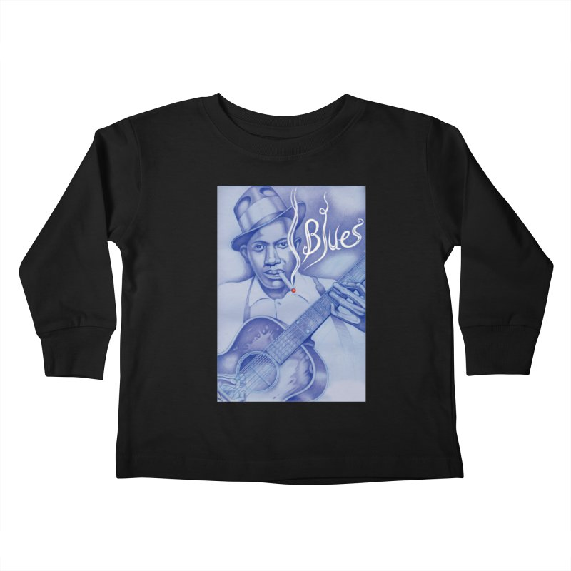 Robert Johnson. Kids Toddler Longsleeve T-Shirt by philscarr's Artist Shop