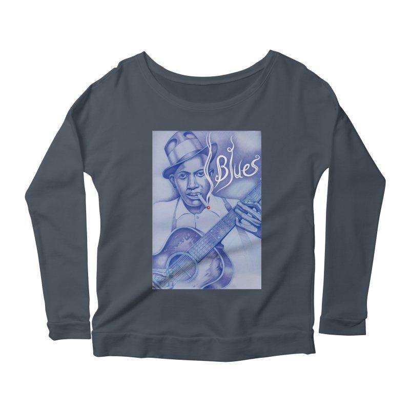 Robert Johnson. Women's Scoop Neck Longsleeve T-Shirt by philscarr's Artist Shop