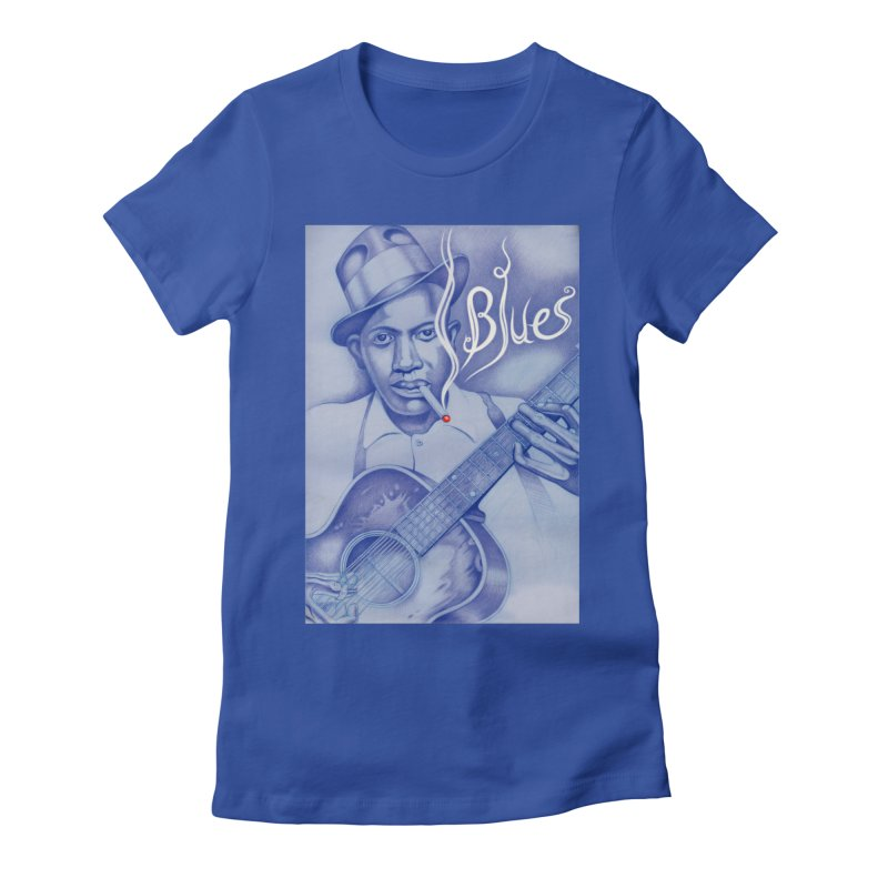 Robert Johnson. Women's Fitted T-Shirt by philscarr's Artist Shop