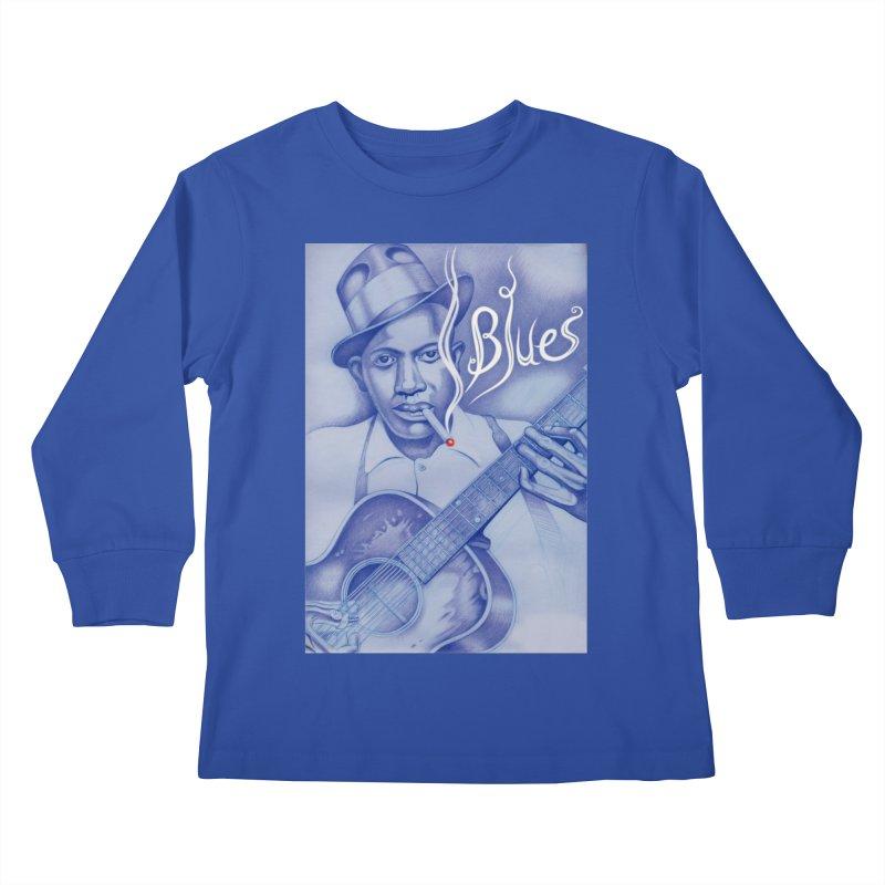 Robert Johnson. Kids Longsleeve T-Shirt by philscarr's Artist Shop