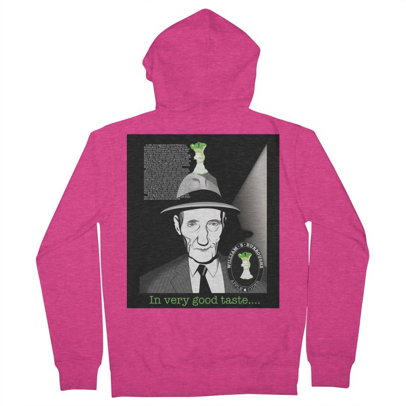 William Burrough's Apple Cider. Women's French Terry Zip-Up Hoody by philscarr's Artist Shop