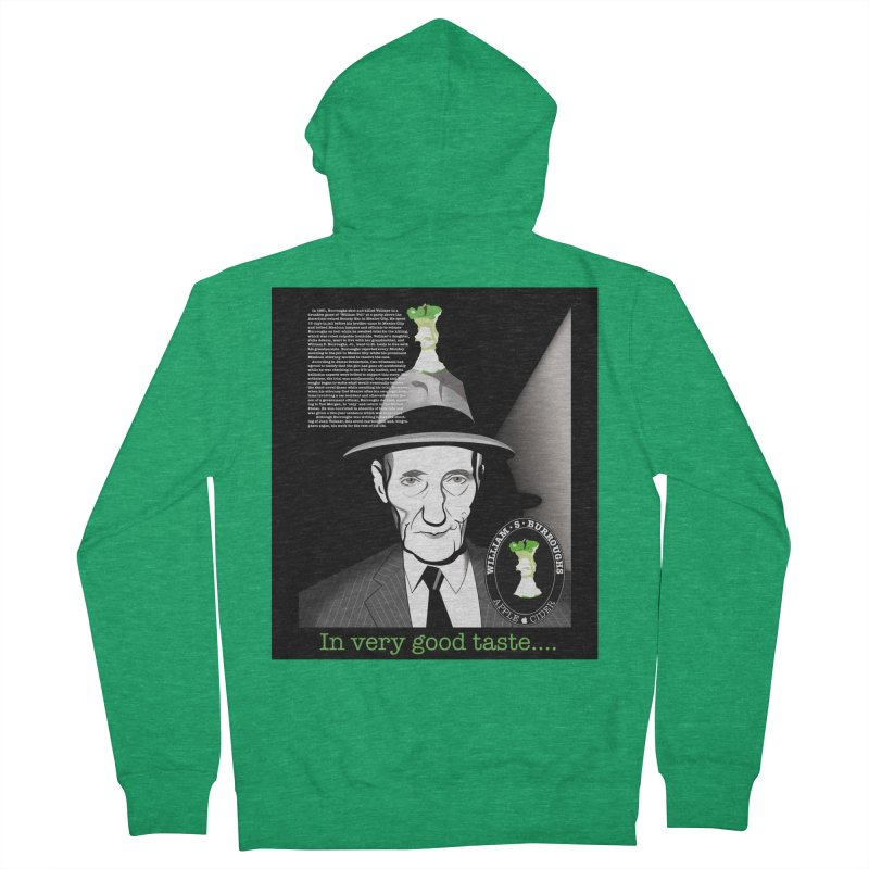 William Burrough's Apple Cider. Men's French Terry Zip-Up Hoody by philscarr's Artist Shop