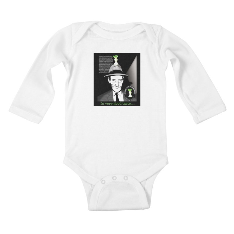 William Burrough's Apple Cider. Kids Baby Longsleeve Bodysuit by philscarr's Artist Shop