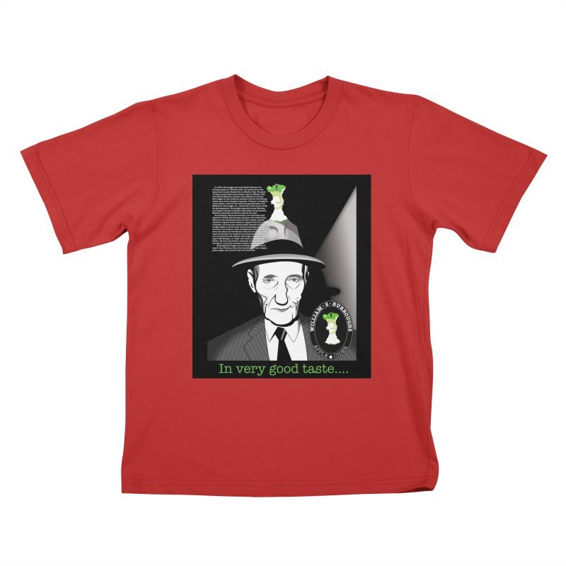 William Burrough's Apple Cider. Kids T-Shirt by philscarr's Artist Shop