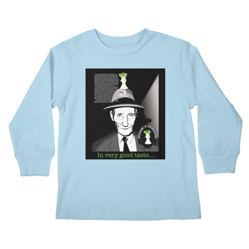 William Burrough's Apple Cider. Kids Longsleeve T-Shirt by philscarr's Artist Shop