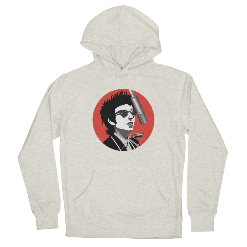 Bob Dylan Men's French Terry Pullover Hoody by philscarr's Artist Shop