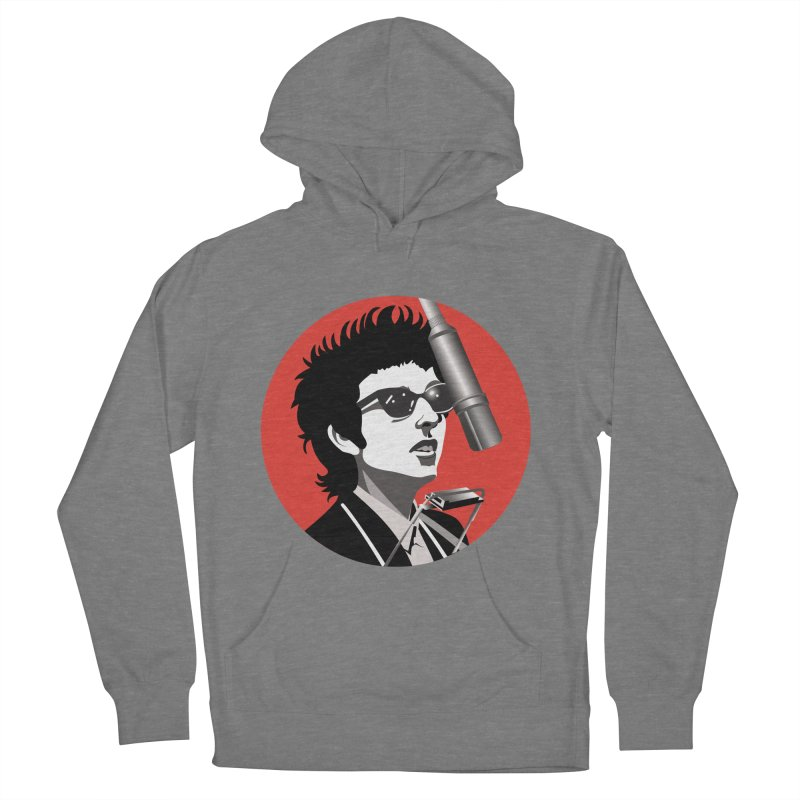 Bob Dylan Women's French Terry Pullover Hoody by philscarr's Artist Shop