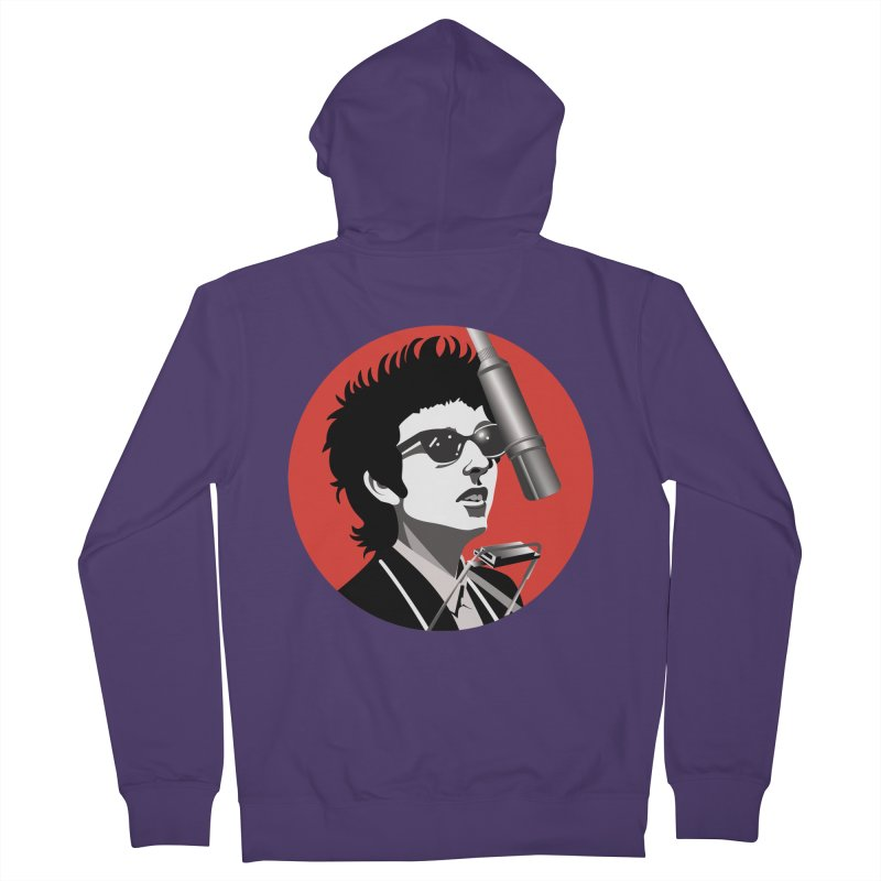 Bob Dylan Women's French Terry Zip-Up Hoody by philscarr's Artist Shop