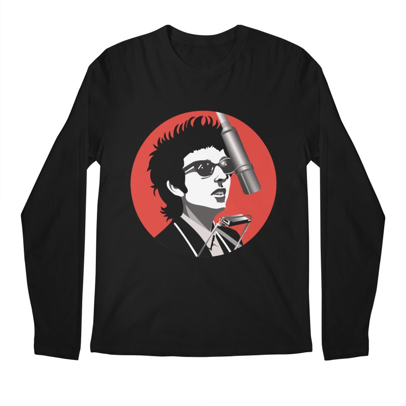 Bob Dylan Men's Regular Longsleeve T-Shirt by philscarr's Artist Shop