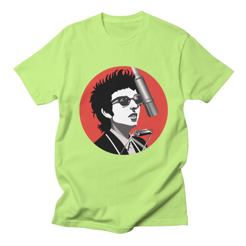 Bob Dylan Men's Regular T-Shirt by philscarr's Artist Shop