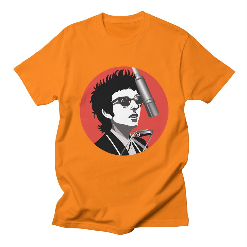 Bob Dylan Men's Regular T-Shirt by philscarr's Artist Shop