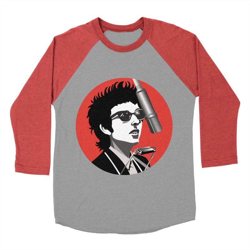 Bob Dylan Women's Baseball Triblend Longsleeve T-Shirt by philscarr's Artist Shop