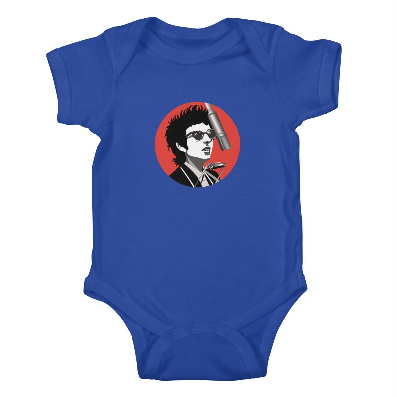 Bob Dylan Kids Baby Bodysuit by philscarr's Artist Shop