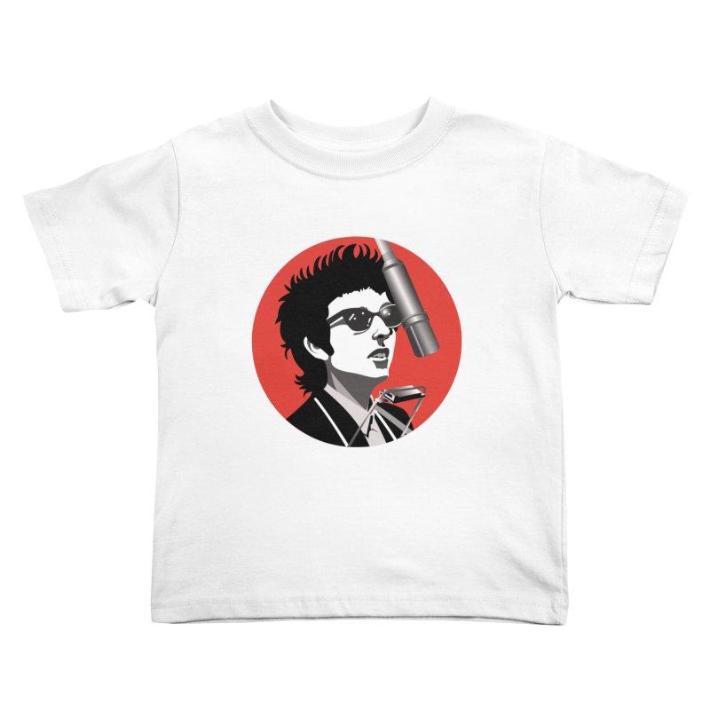 Bob Dylan Kids Toddler T-Shirt by philscarr's Artist Shop