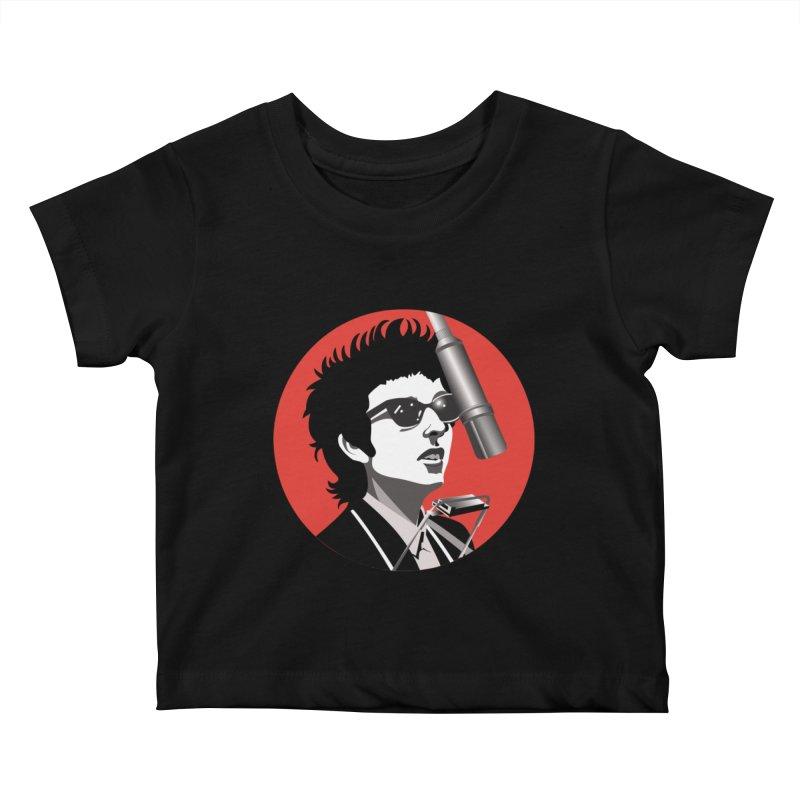 Bob Dylan Kids Baby T-Shirt by philscarr's Artist Shop